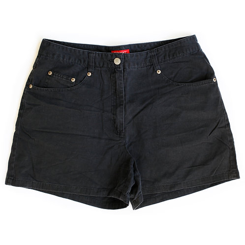 Vintage Esprit Black High Rise Denim Shorts - 29