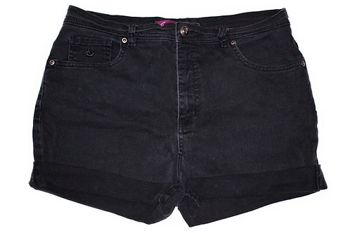Vintage Black High Rise Cuffed Shorts - Sz 30/31