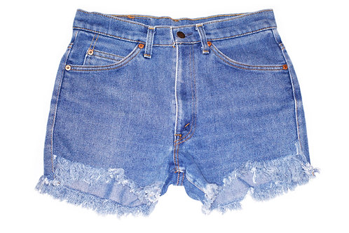 Vintage Levi's Medium Wash High Rise Cut Offs Shorts - Sz 29/30