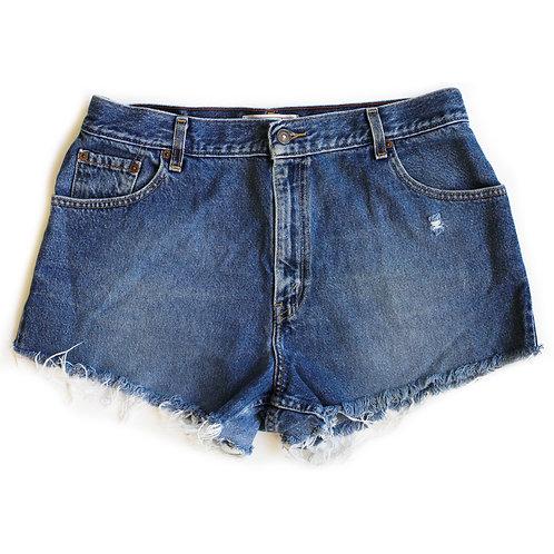 Vintage Levi's Medium Wash High Rise Denim Cut Off Shorts - 34
