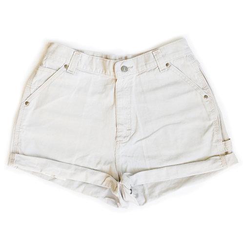 Vintage Lee Beige Khaki Chino High Waisted Rise Cuffed Shorts