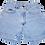 Vintage Lee Light Blue Wash High Waisted Denim Shorts - Front