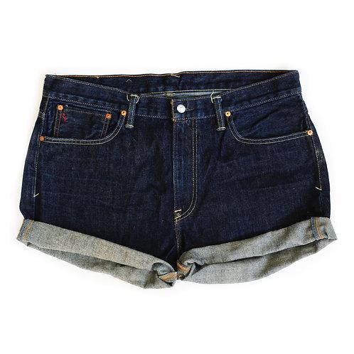 Vintage Ralph Lauren Dark Wash High Rise Denim Cuffed Shorts - 39