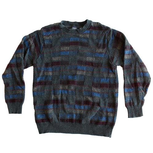 Vintage Pattern Knit Cosby Grandpa Sweater