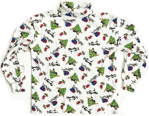 Vintage Looney Tunes Christmas Long Sleeve Shirt - M