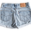 Thumbnail: Vintage Levi's Light Blue Wash High Rise Cut Off Cuffed Shorts - Sz 32