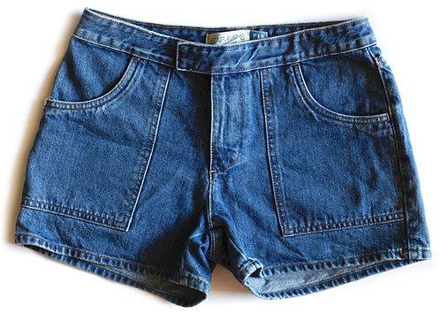 Vintage GAP Medium/Dark Blue Wash Mid-High Waisted Rise Denim / Jean Shorts