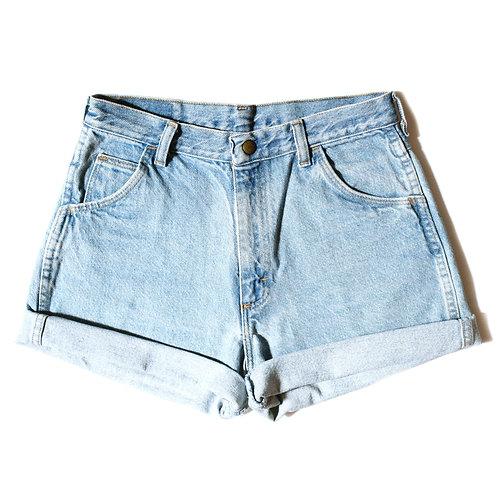Vintage Wrangler Light Wash High Rise Cuffed Shorts - 26