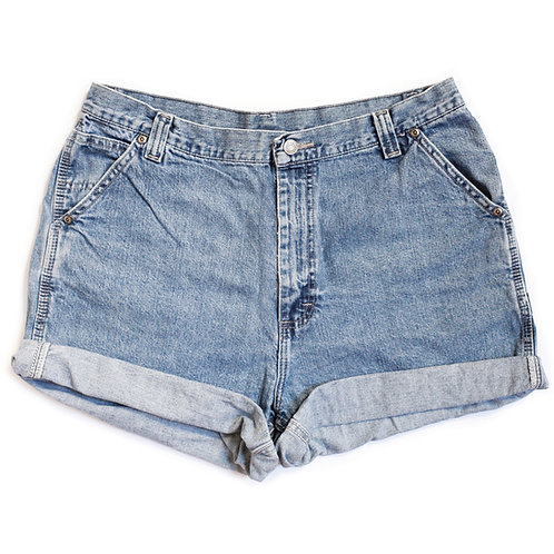 Vintage Lee High Rise Cuffed Shorts - 35