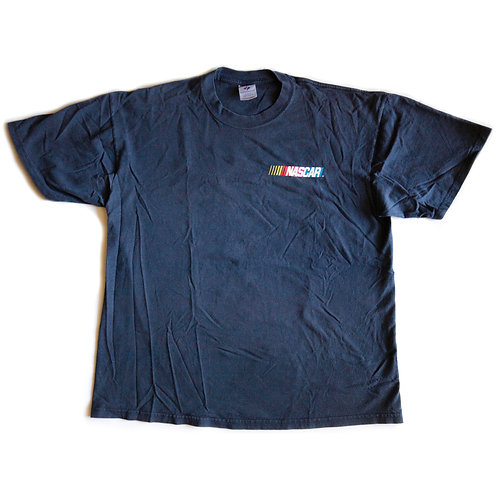 "Vintage 90s Nascar Logo ""America's Greatest Thrill Ride"" Racing Graphic Navy Blue Tee / T-shirt - L"