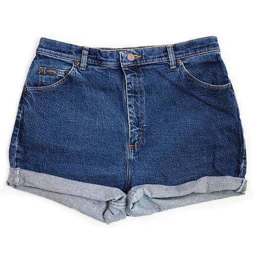 Vintage Lee Dark Wash High Rise Denim Shorts - 35/36