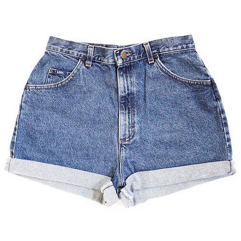 Vintage Lee Medium Wash High Rise Denim Shorts  - 31