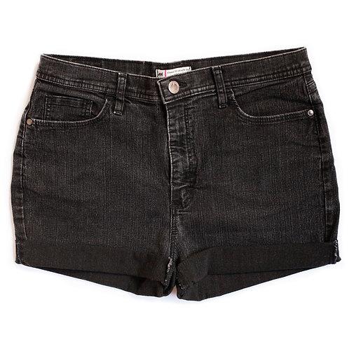 Vintage Lee Dark Wash High Rise Shorts - 34