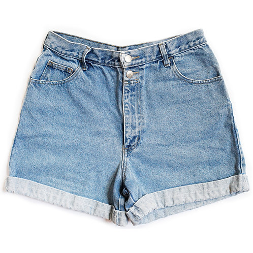 Vintage No Boundaries High Rise Denim Factory Cuffed Shorts - 30