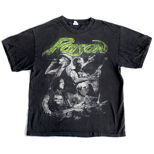 2009 Poison Tour Black and Green Band T-Shirt - Large L