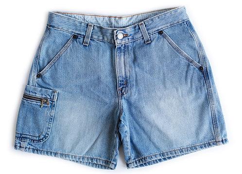 Vintage Levi's Carpenter Light Blue Wash Mid-High Rise Shorts - 29