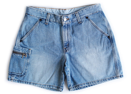 Vintage Levi's Carpenter Light Blue Wash Mid-High Rise Shorts - 29