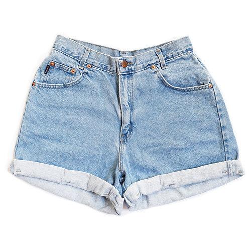 Vintage Chic High Rise Factory Cuffed Denim Shorts - 27