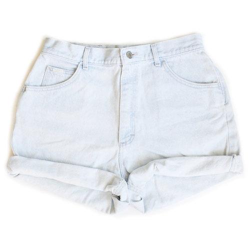 Vintage Lee Light Wash High Rise Denim Factory Cuffed Shorts - 31/32