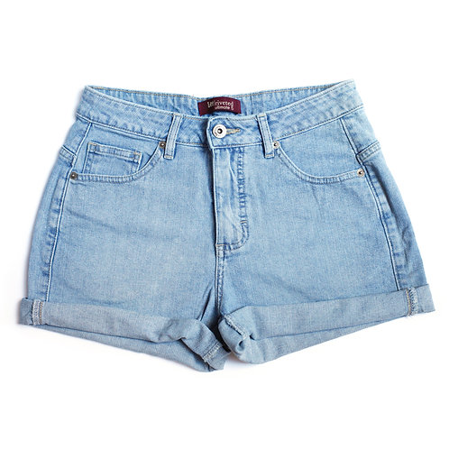 Vintage Lee Mid Rise Cuffed Shorts - 25/26