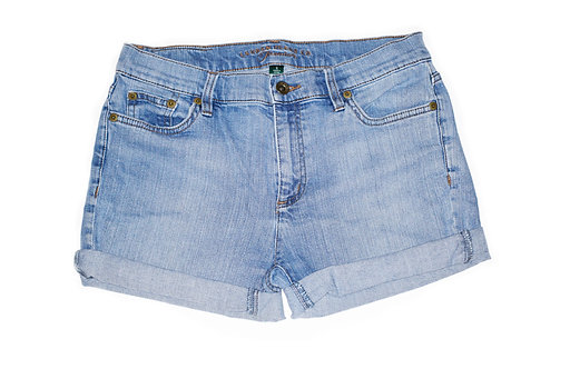 Vintage RL Light Wash Mid-High Rise Cuffed Denim Shorts - Sz 29