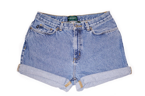 Vintage Ralph Lauren High Rise Cuffed Denim Shorts - Front
