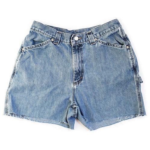 Vintage Lee Medium Wash High Rise Denim Shorts - 28/29