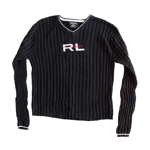 Vintage 90s/Y2k Ralph Lauren V-Neck Pullover Ribbed Sweater