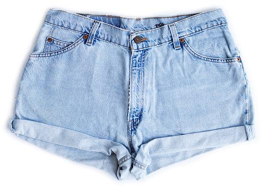 Vintage Levi's Light Wash High Rise Cuffed Denim Shorts - Sz 31/32