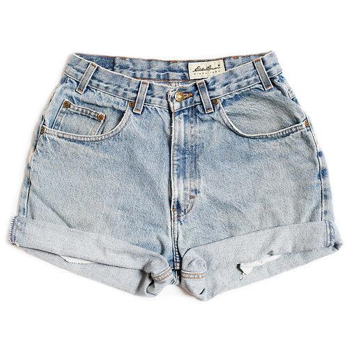 Vintage Light Wash High Rise Denim Shorts - 26/27