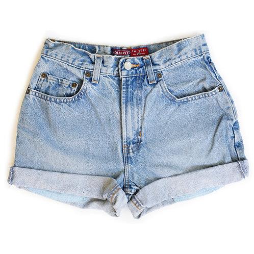 Vintage GAP Light Wash High Waisted Denim Cuffed Shorts - 25/26