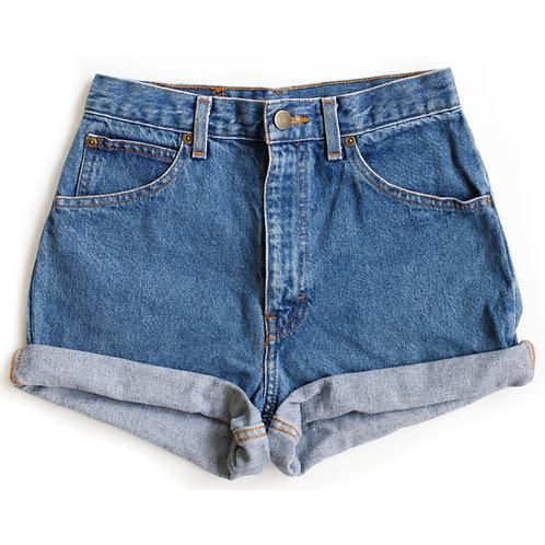 Vintage Medium Wash High Rise Denim Shorts - 24/25