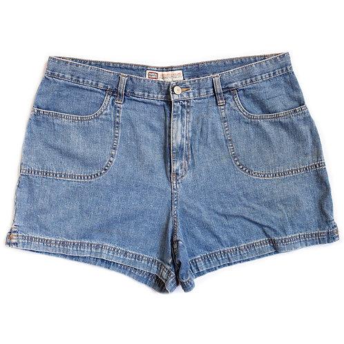 Vintage Medium Wash High Rise Shorts - 35/36