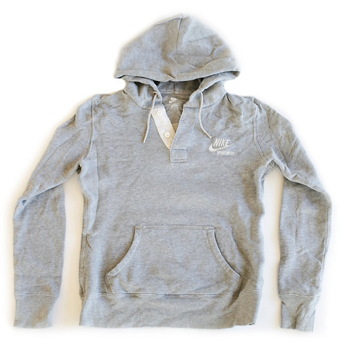 Nike Sportswear Swoosh Logo Embroidered Pullover Hooded Gray Sweatshirt