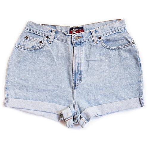 Vintage Light Wash High Rise Shorts - 33/34