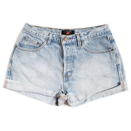 Vintage AE Light Wash High Rise Button Fly Denim Shorts  - 28/29-
