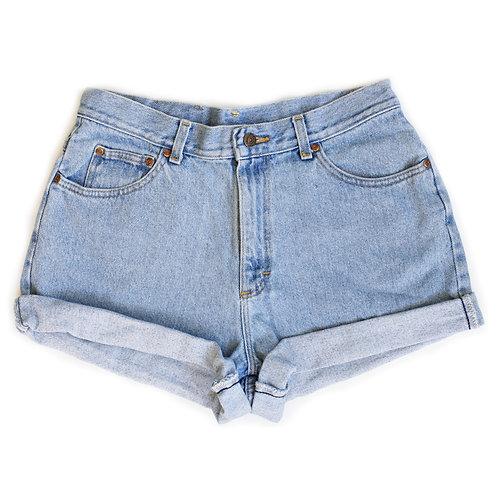 Vintage Lee Light Wash High Rise Denim Cuffed Shorts - 31