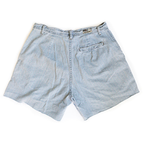 Vintage Quiksilver Blue Faded High Rise Cut Offs Shorts - 30