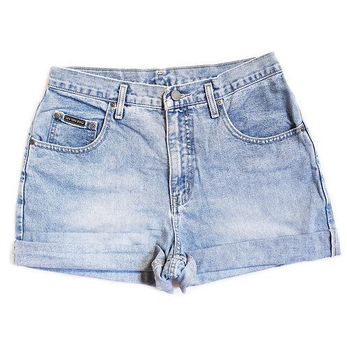 Vintage Medium Wash High Rise Cuffed Shorts - 29/30