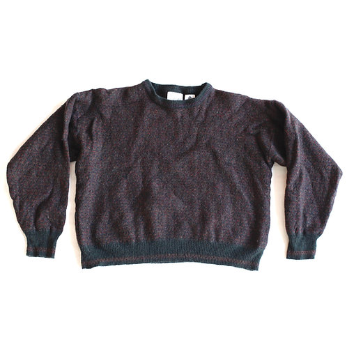 Vintage Multicolor Maglificio Florence 100% Wool Cropped Crew Neck Pullover Sweater - XS