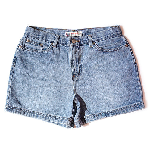 Vintage Faded Glory Light Wash Mid Rise Cuffed Shorts - 28