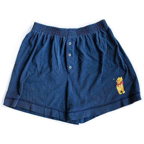 Vintage 90s Disney's Winnie the Pooh Bear Navy Blue Lounge Pajama Shorts