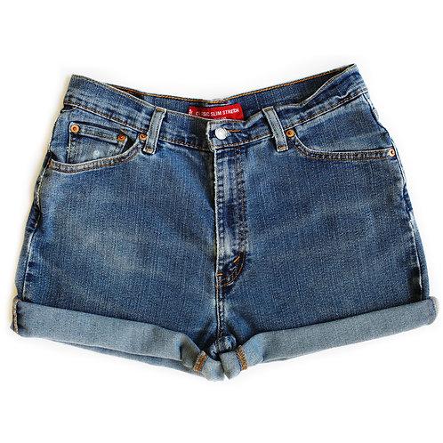 Vintage Levi's Medium Wash High Rise Denim Shorts - 31/32
