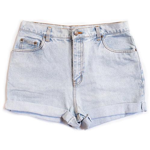 Vintage Light Wash High Rise Shorts - 33