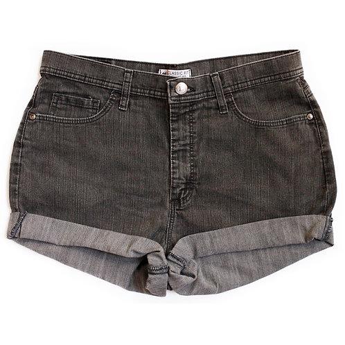 Vintage Lee Dark Wash High Rise Denim Shorts - 30