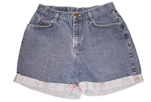 Vintage Lee Dark Wash High Rise Cuffed Shorts - Sz 32/33