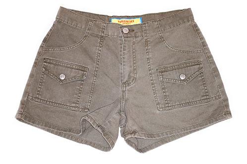 Vintage Army Green Mid Rise Cargo Shorts - Sz 25
