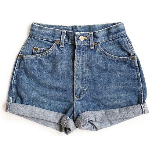 Vintage Lee High Rise Denim Cuffed Shorts - 22/23