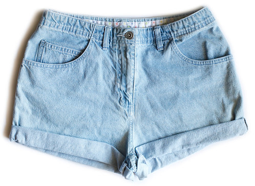 Vintage Christopher & Banks Light Blue Wash High Waisted / Rise Cuffed Denim / Jean Shorts