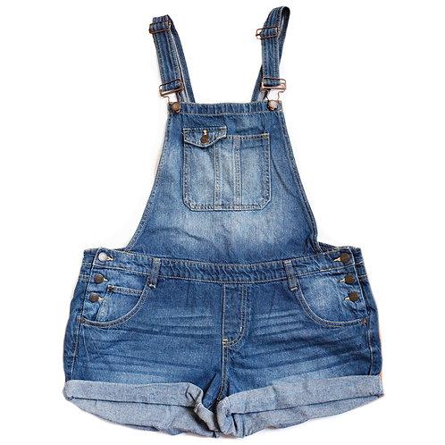 Vintage Y2k l.e.i. Medium/Dark Blue Wash Low Waisted Denim Shorts Shortalls